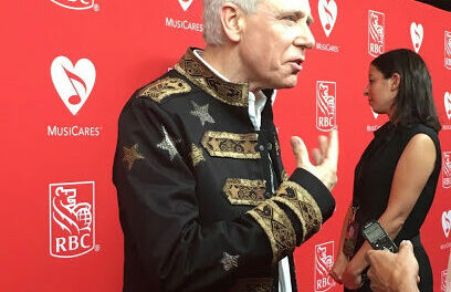 U2's Adam Clayton Recieves MusiCares Stevie Ray Vaughan Award